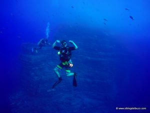 Diver at El Boiler. Socorro Island