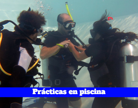 Practicas en piscina del curso open water diver