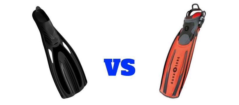 ¿Que aletas son mejores calzantes o abiertas?