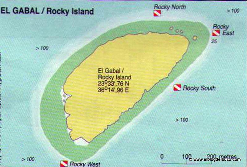 Mapa de inmersión Rocky Island