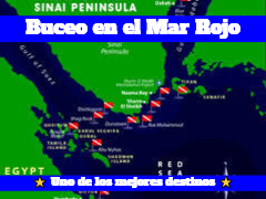 Mapa buceo Mar Rojo