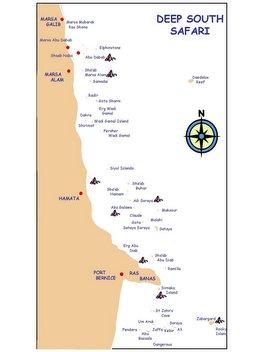 Rutas del Mar Rojo. Ruta sur profundo y Sant Johns